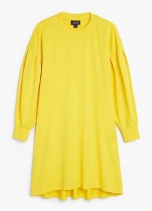 Жовте плаття сукня спортивне monki з рукавами фанаріками