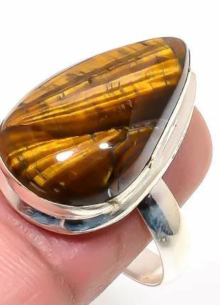 Кольцо Стерлинговое серебро 925 пробы ,камень Тигровый глаз