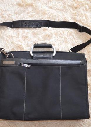 Большая черная текстильная сумка-портфель для ноутбука numanni