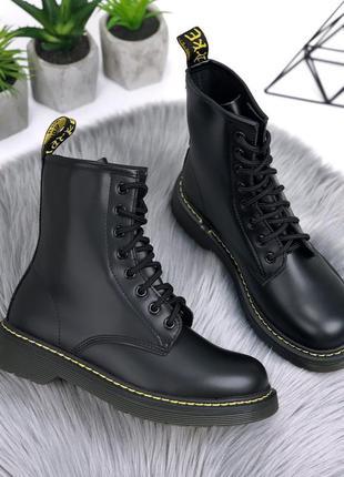 """Хит🔥 чёрные ботинки деми """"dr. martens"""""""