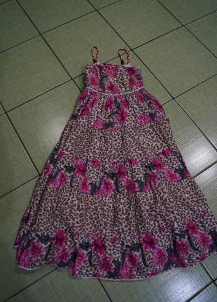 Платье летнее на девочку 7 лет