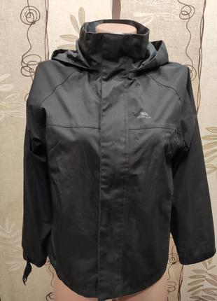 Trespass чёрная термоветровка waterproof 3000, 146-152 см