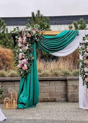 Оформление свадьбы в изумрудном цвете