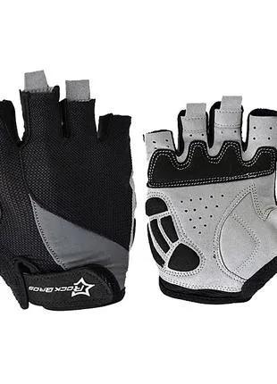 Велоперчатки без пальцев Rockbros summer велосипедные перчатки