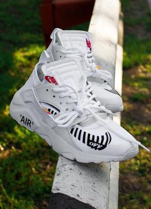 🌹nike air huarache off-white white🌹шикарные белые женские крос...