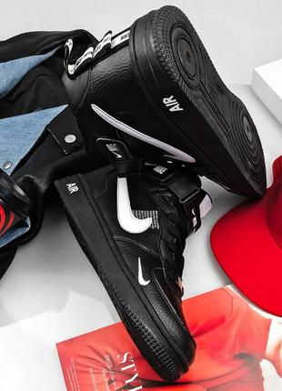 Nike air force utility high winter black, мужские кроссовки на...