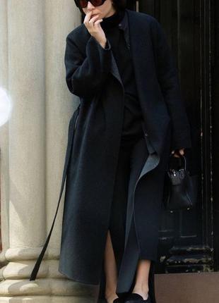 Тренч кашемировый пальто с карманами длинное довге удлинённое ...