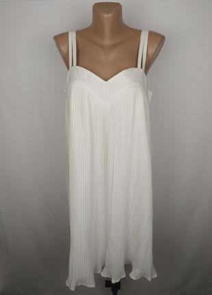 Платье новое шикарное плиссе оригинал asos uk 12/40/m