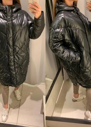 Демисезонная куртка стеганое пальто reserved есть размеры
