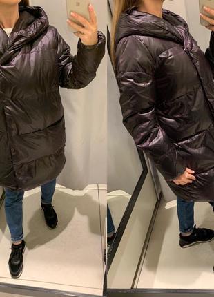 Бордовая куртка пуховик reserved есть размеры