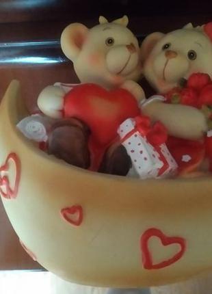 Копилка сувенир фигурка статуэтка мишки день влюбленных