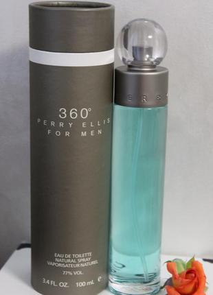Мужская туалетная вода perry ellis for men 360, 100 мл