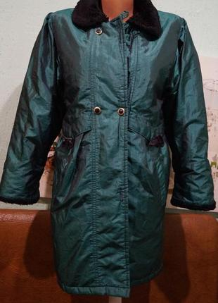 Пальто на девочку 7-8 лет