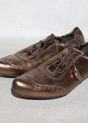 San marina paris кожаные туфли броги с бронзовым напылением 40...