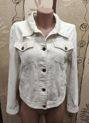 Hennes белая вельветовая куртка, ветровка, пиджак