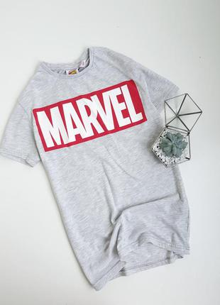 Серая футболка marvel