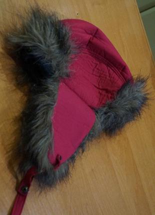 Зимняя шапка на девочку 2-3 года