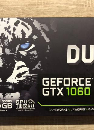 Видеокарта Asus GeForce GTX 1060 - 6GB Dual OC Edition