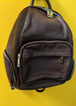 Новый женский городской рюкзак virginia conti кожа италия