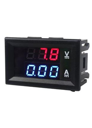 Амперметр вольтметр цифровой от 0 до 100V 10 А с встроенным шу...