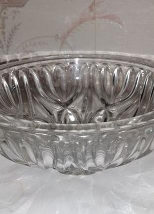 Хрустальная ваза конфетница. Производство СССР.