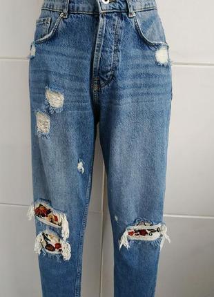Стильные джинсы-бойфренды zara man модного кроя