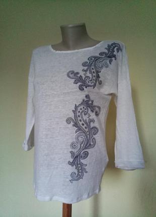 Красивая брендовая блузочка лен