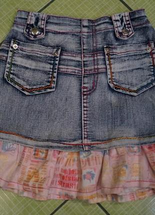 Джинсовая юбка на девочку 10 лет