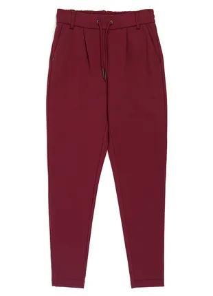 Женские брюки с лампасами бордовые