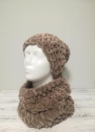 Комплект жіночий шапка+бафф