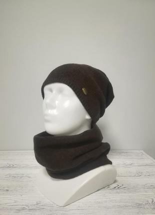 Комплект жіночий шапка+бафф дарні