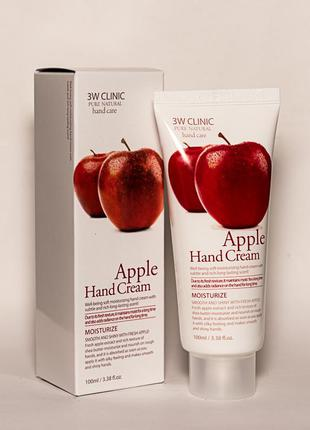 Крем для рук 3w clinic apple hand cream с экстрактом яблока
