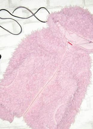 Мимишная курточка тедди, меховушка, пудрового цвета