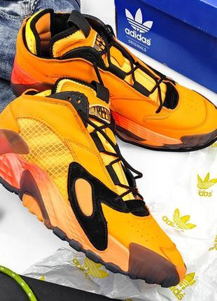 Adidas streetball flash orange, крутые мужские кроссовки адида...