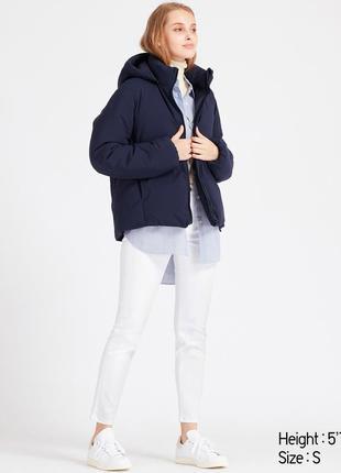 Женская зимняя куртка парка пуховик uniqlo hybrid