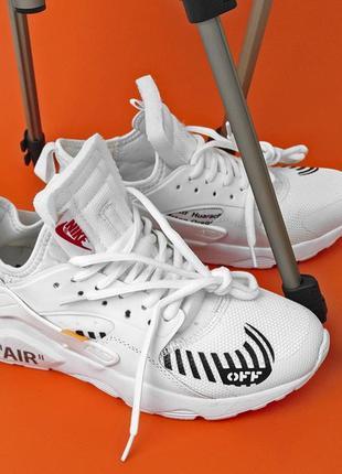 Nike air huarache off-white white, мужские белые кроссовки най...