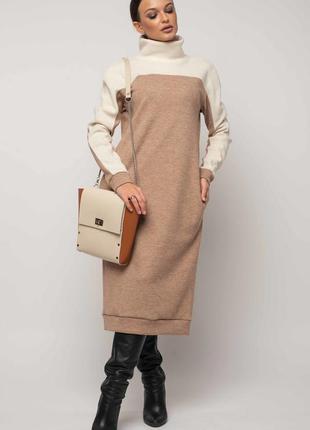 Теплое стильное платье