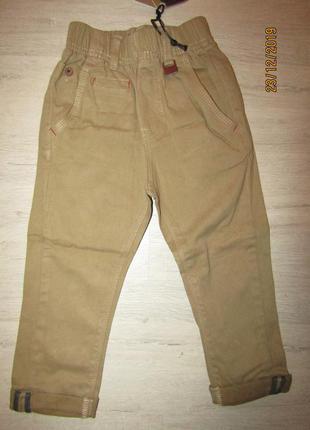Штаны брюки коттоновые на резинке с подворотом,110, высокое ка...