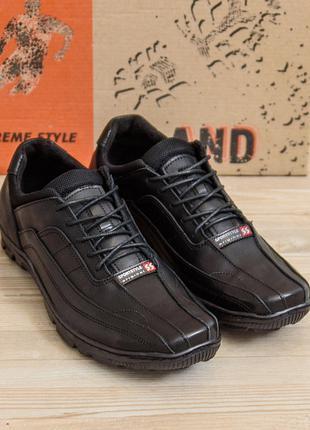 Мужские кожаные кроссовки  Sport Style