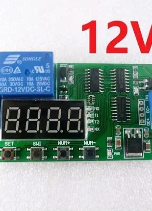 Таймер многофункциональный CE030 реле времени 12 вольт