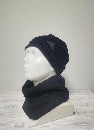 Комплект чоловічий шапка+бафф