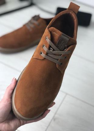 Мужские туфли рыжие на шнурках, нубук 💥