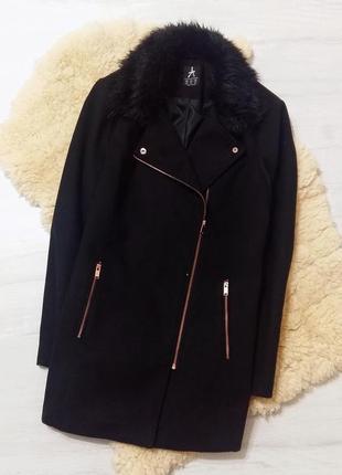 Atm базовое пальто m-l черное бойфренд прямое стильное весна с...