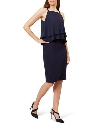 Брендовое комбинированное платье премиум класса размера m