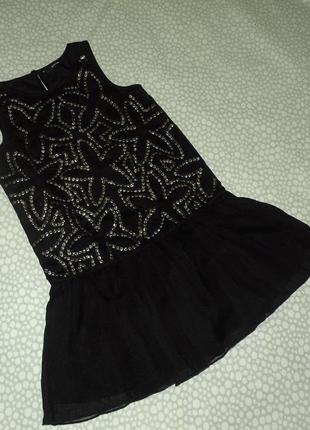 Нарядный сарафан-платье 8-9 лет