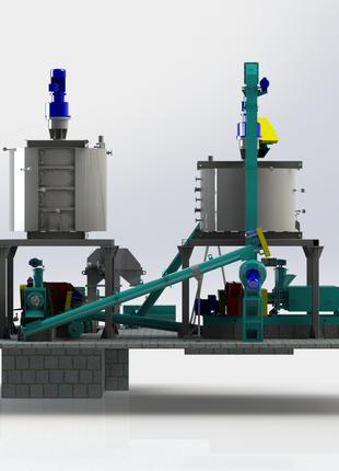Линия производства подсолнечного масла производительностью до 25