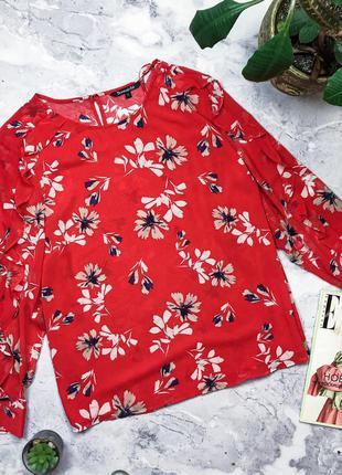 Шикарная яркая блуза с рюшами на рюшами bonmarche