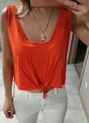 Стильная базовая блуза топ футболка американка с завязками