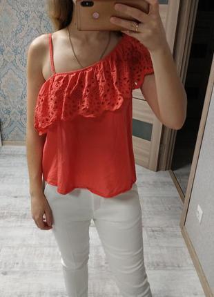 Красивая нежная блуза с прошвой хлопок
