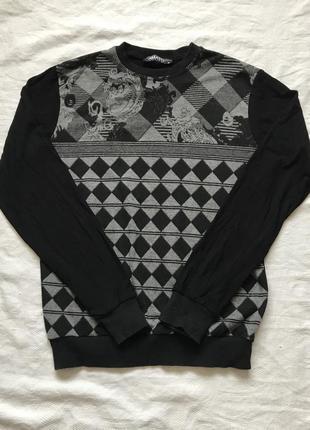 Черно-серая кофта
